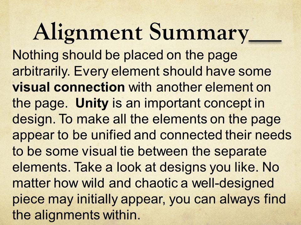 Alignment Summary