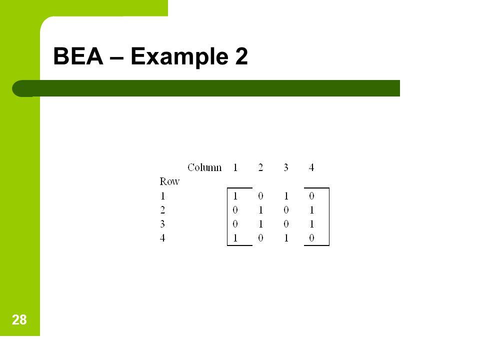 BEA – Example 2