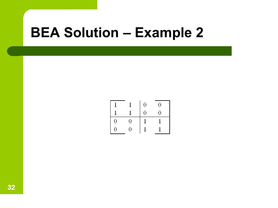 BEA Solution – Example 2