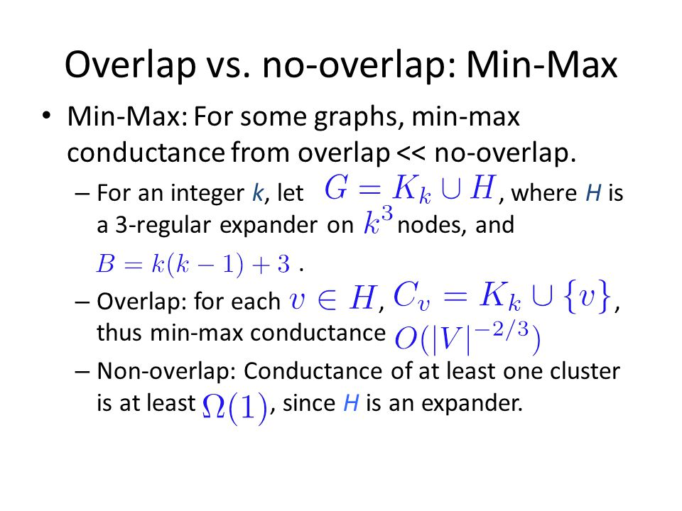 Overlap vs. no-overlap: Min-Max