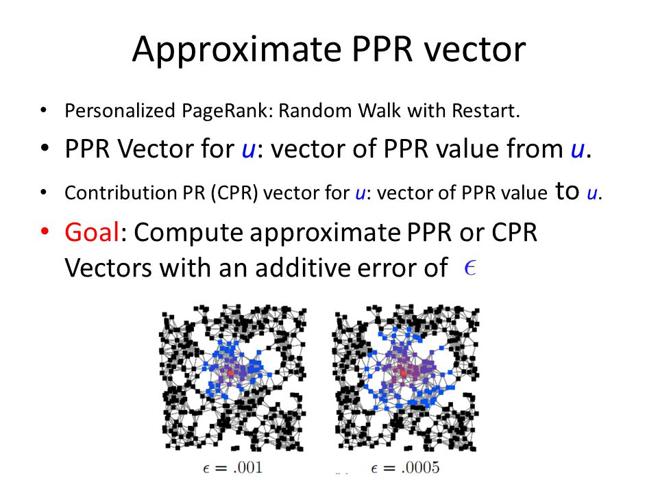 Approximate PPR vector