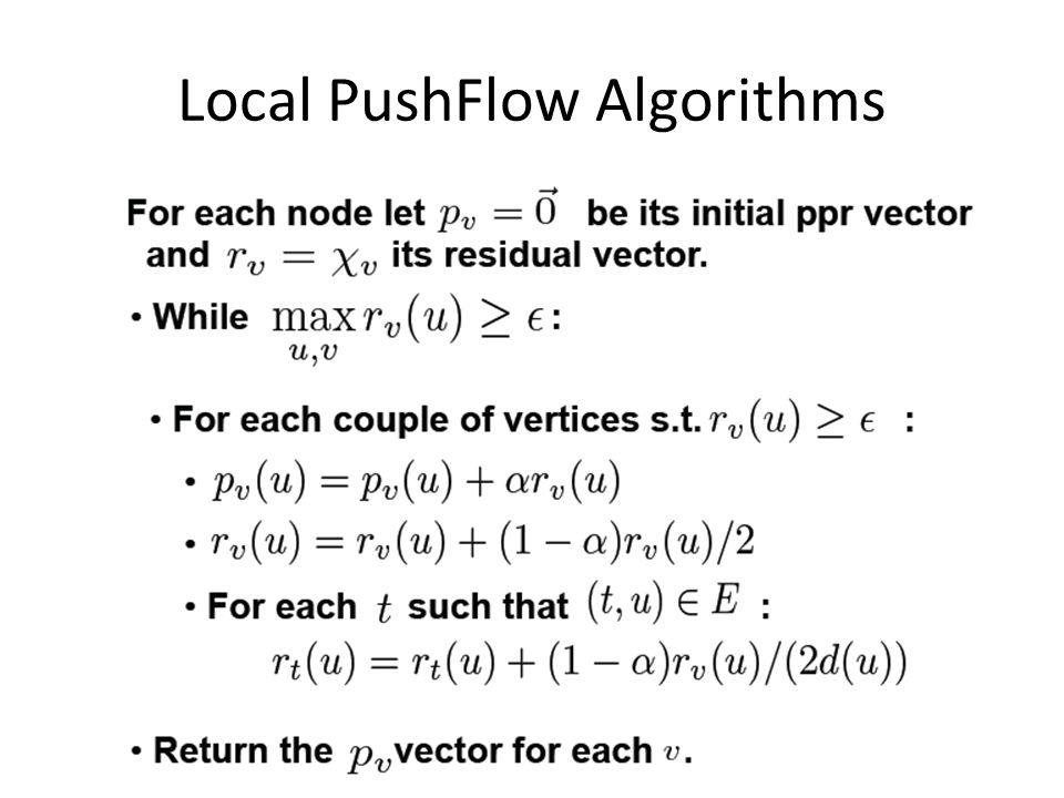 Local PushFlow Algorithms