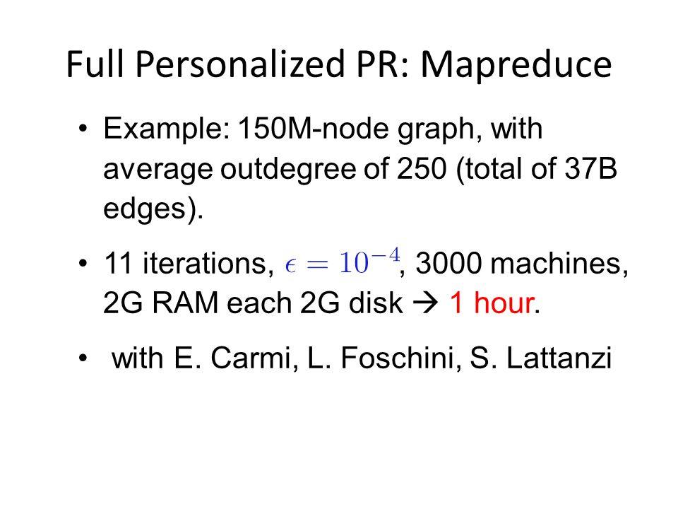 Full Personalized PR: Mapreduce