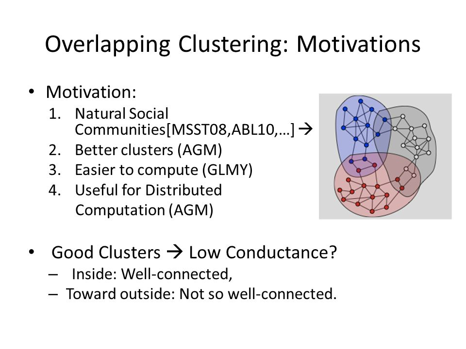 Overlapping Clustering: Motivations