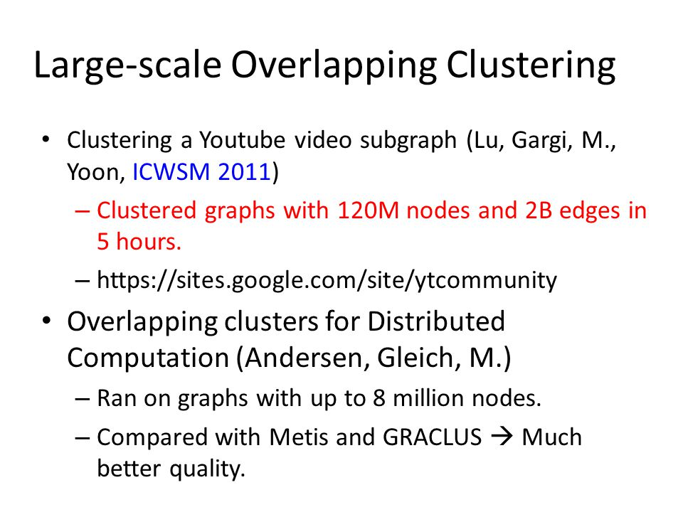 Large-scale Overlapping Clustering
