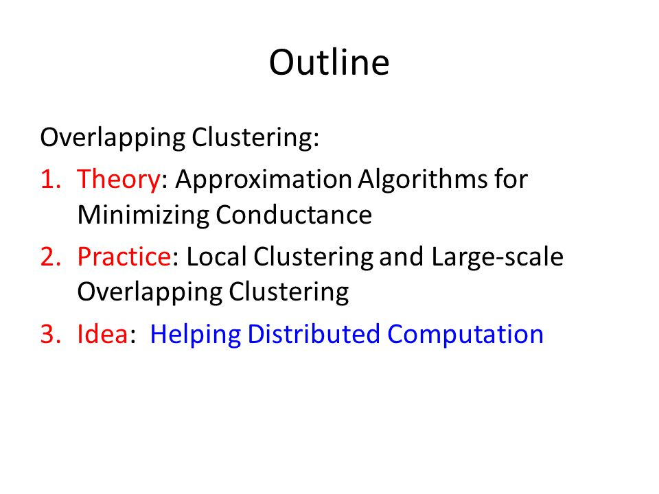 Outline Overlapping Clustering: