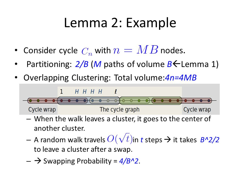 Lemma 2: Example Consider cycle with nodes.