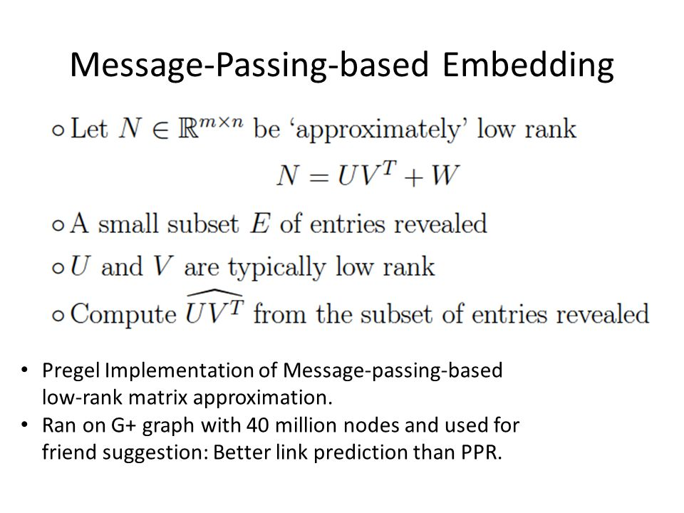 Message-Passing-based Embedding