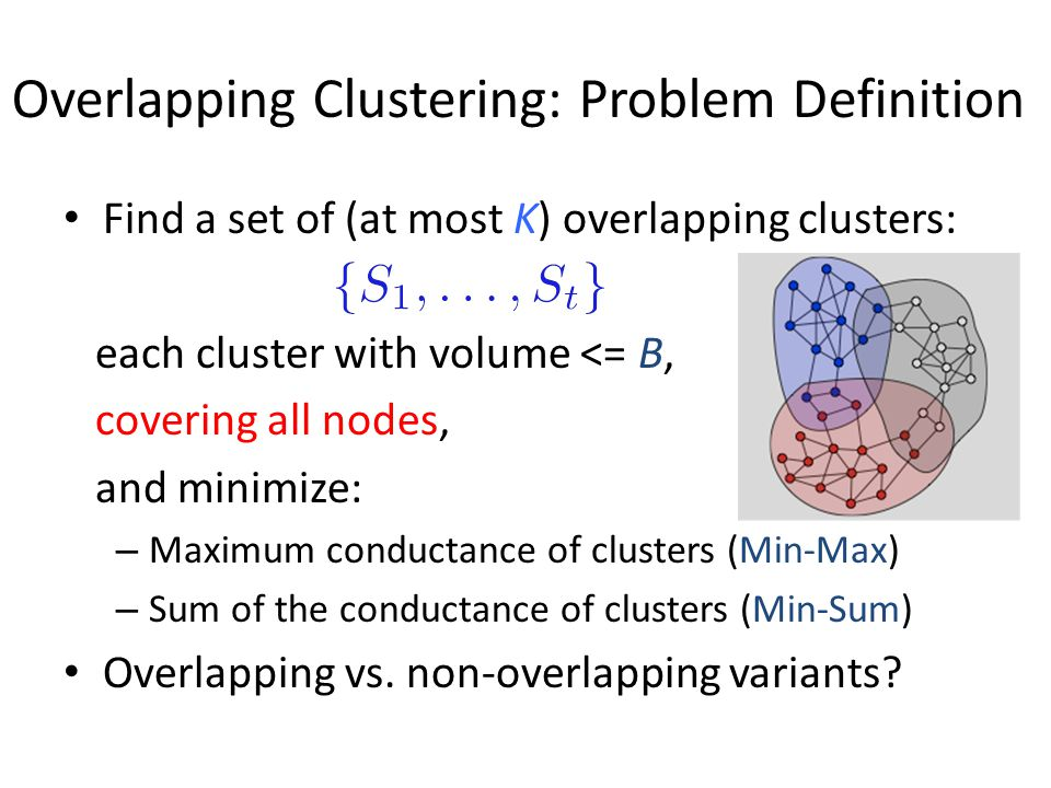 Overlapping Clustering: Problem Definition