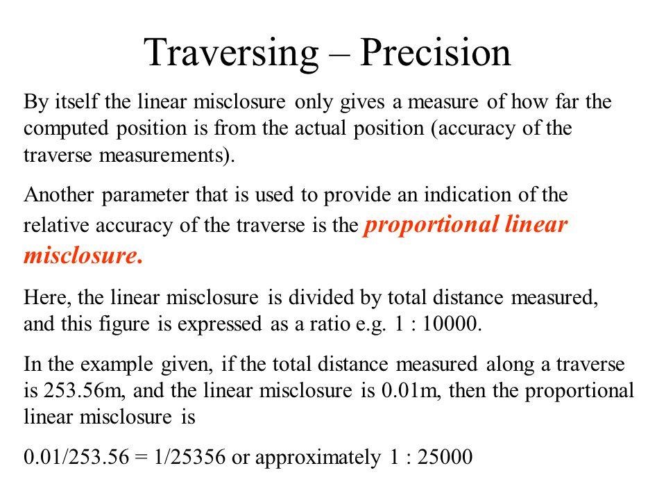Traversing – Precision