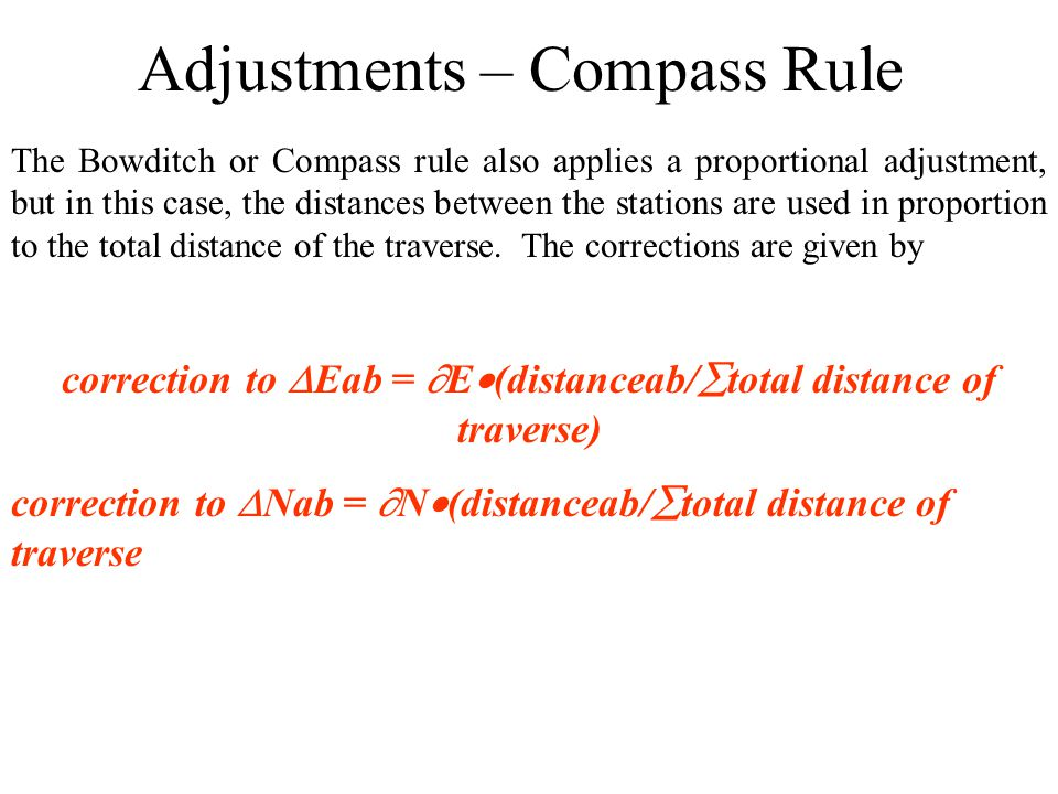 Adjustments – Compass Rule