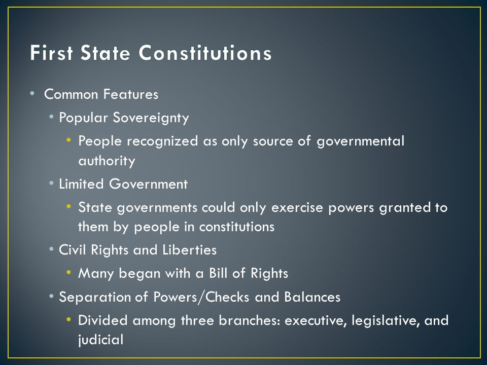 First State Constitutions