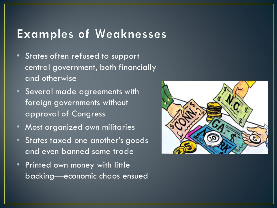 Examples of Weaknesses