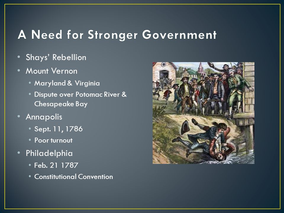 A Need for Stronger Government