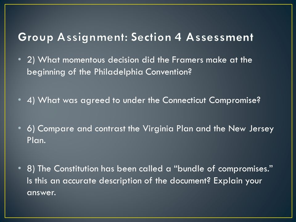 Group Assignment: Section 4 Assessment