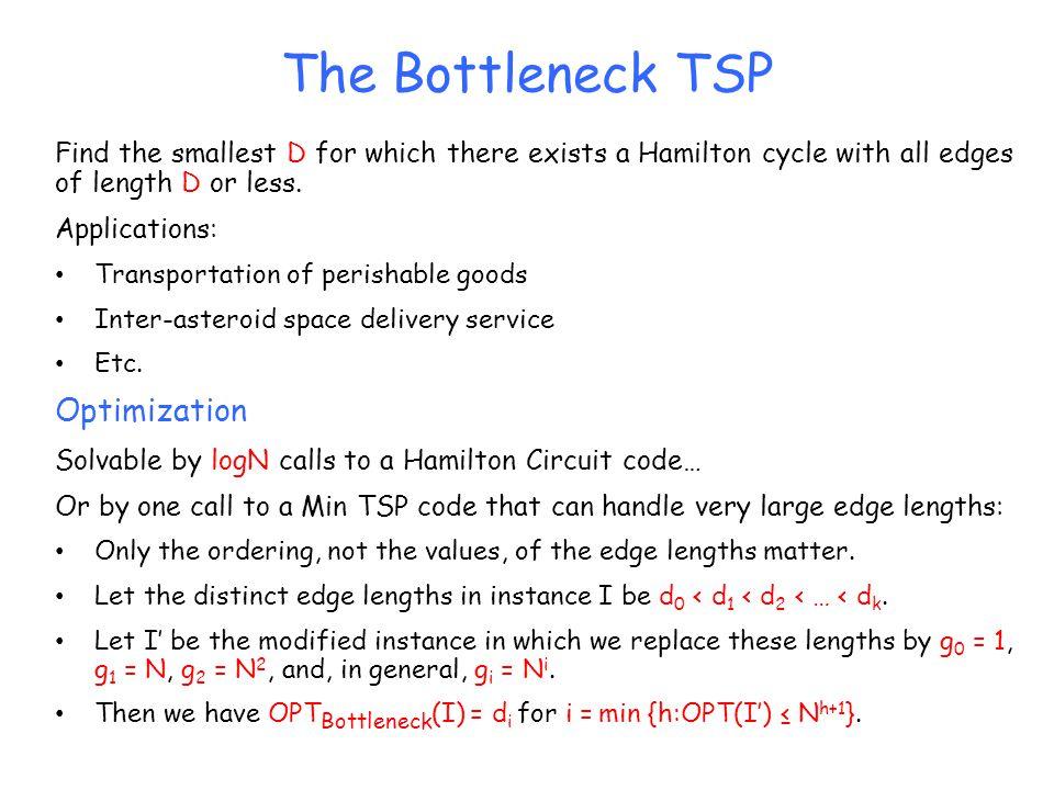 The Bottleneck TSP Optimization