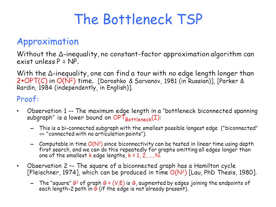 The Bottleneck TSP Approximation Proof: