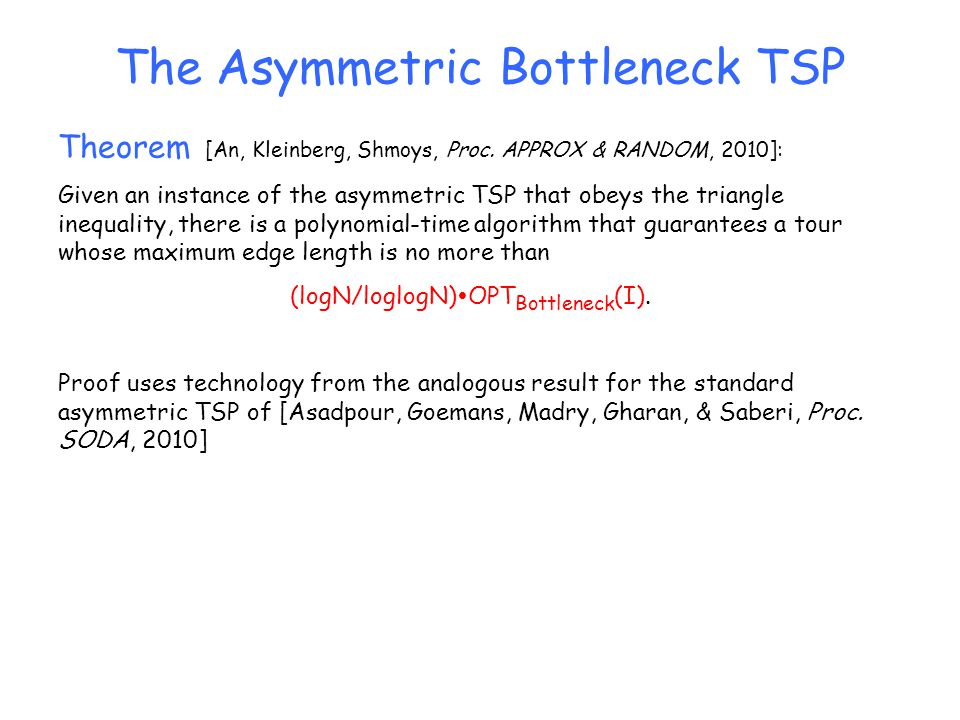 The Asymmetric Bottleneck TSP