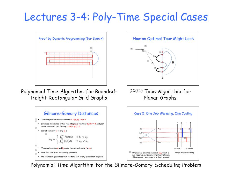 Lectures 3-4: Poly-Time Special Cases