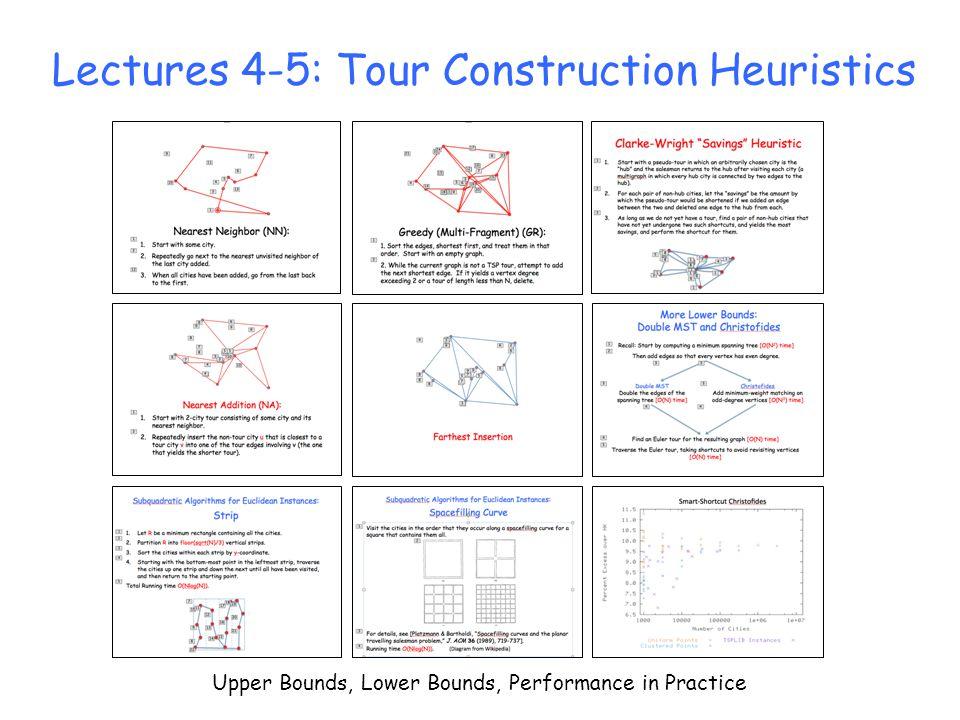 Lectures 4-5: Tour Construction Heuristics