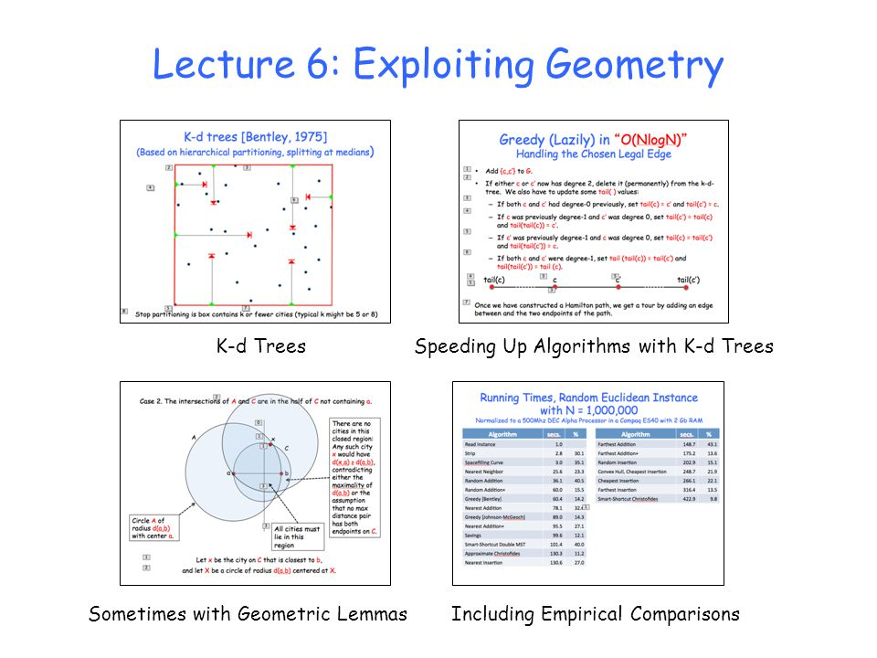 Lecture 6: Exploiting Geometry