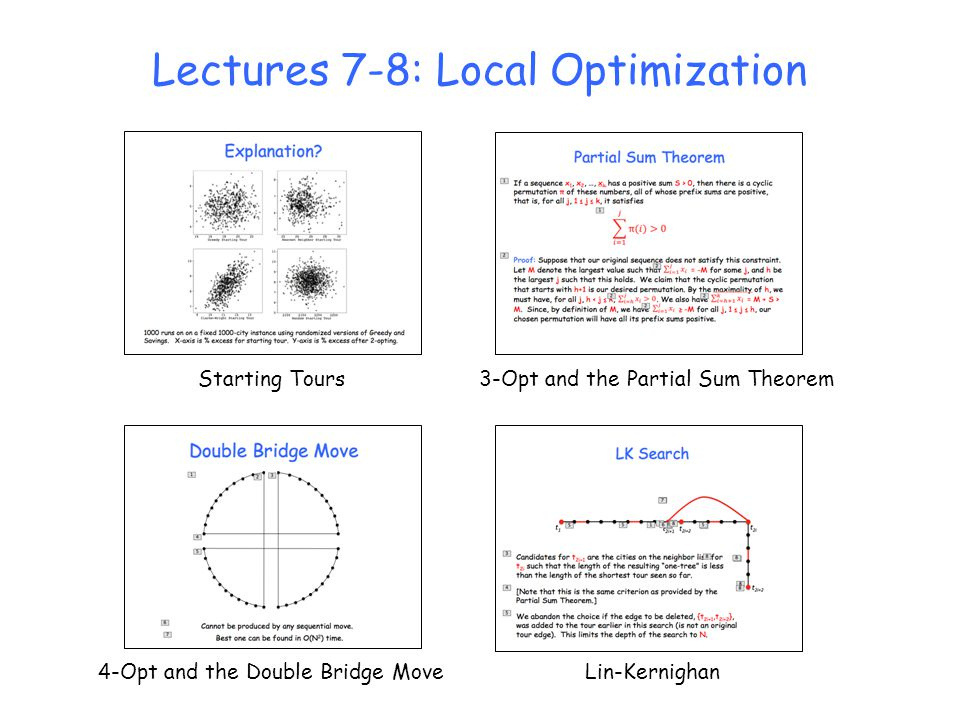 Lectures 7-8: Local Optimization
