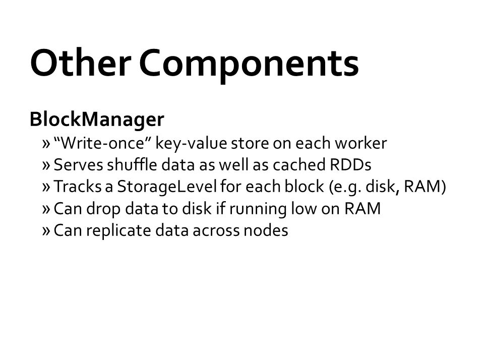Other Components BlockManager