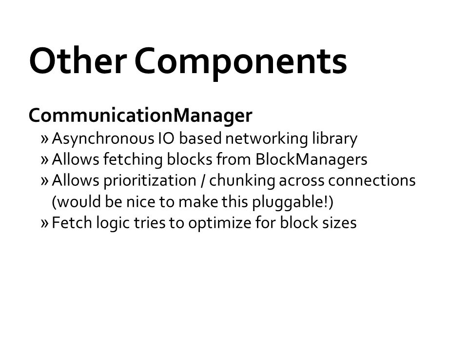 Other Components CommunicationManager