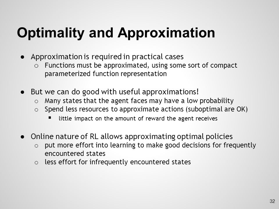 Optimality and Approximation