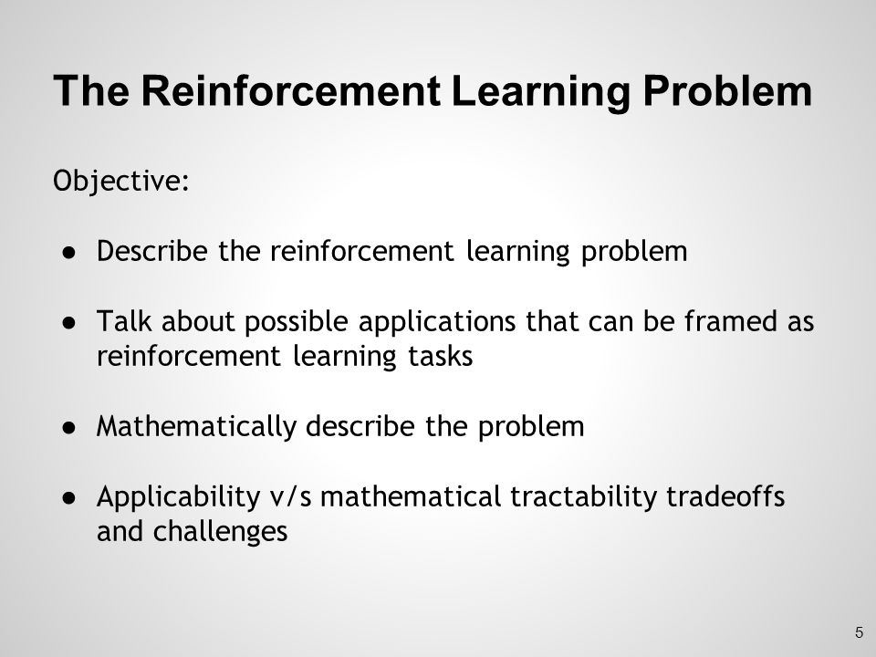 The Reinforcement Learning Problem