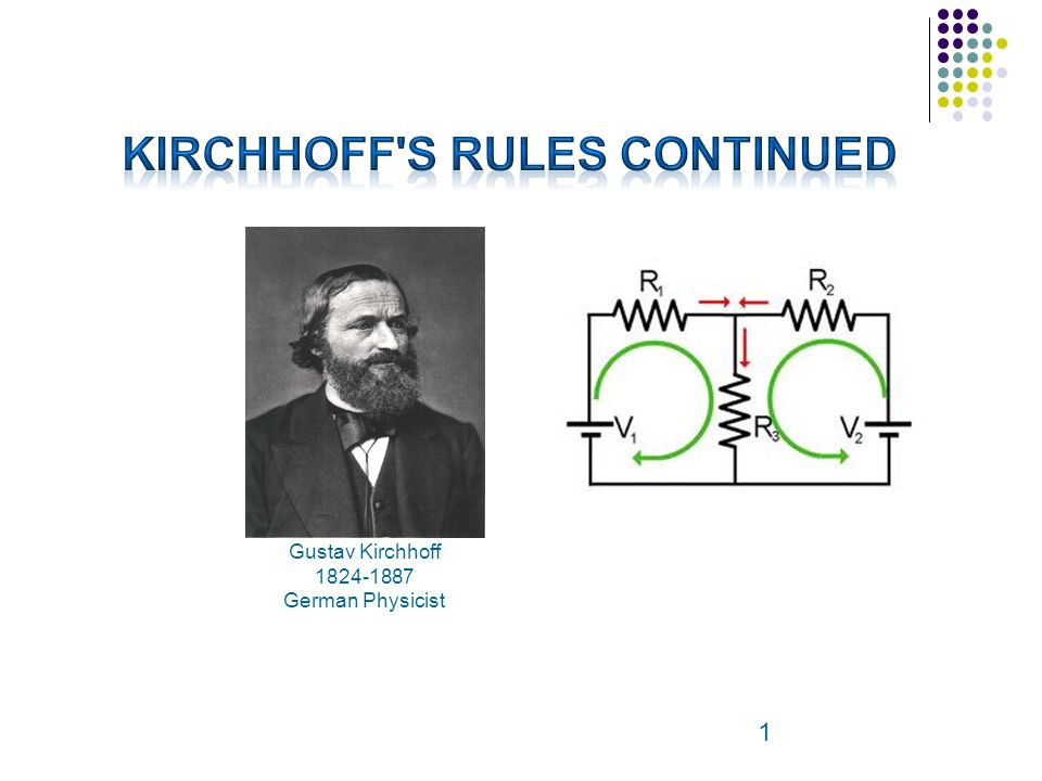 Kirchhoff s Rules Continued
