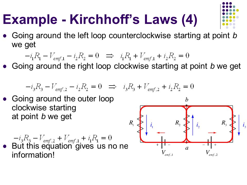 Example - Kirchhoff's Laws (4)