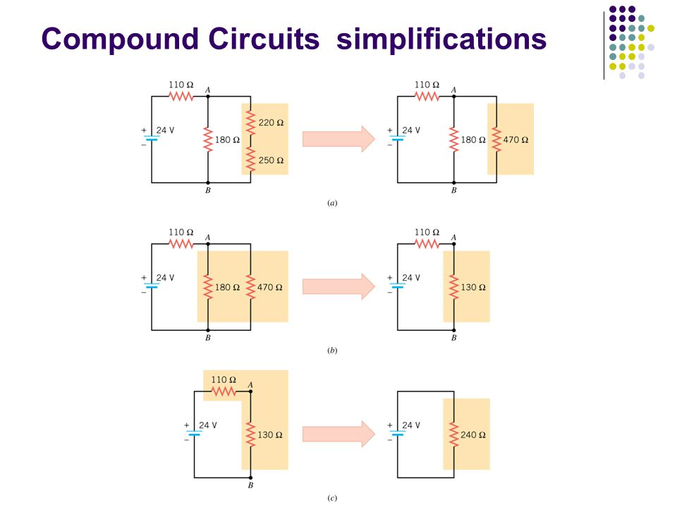 Compound Circuits simplifications