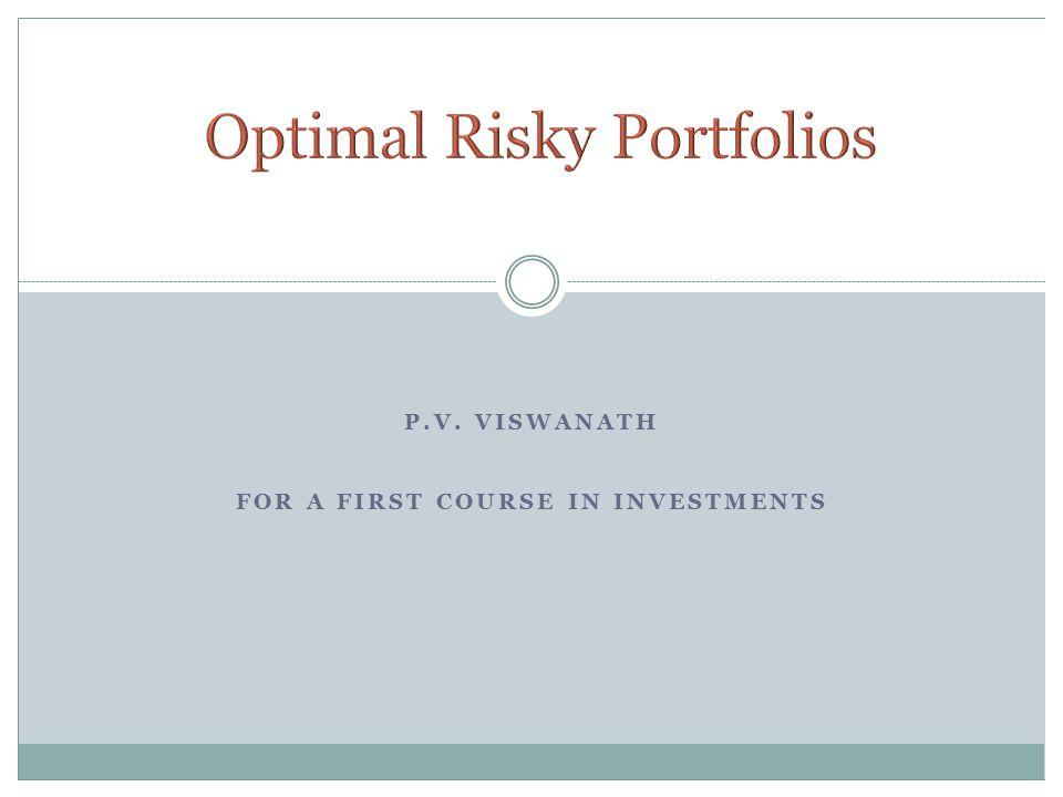 Optimal Risky Portfolios