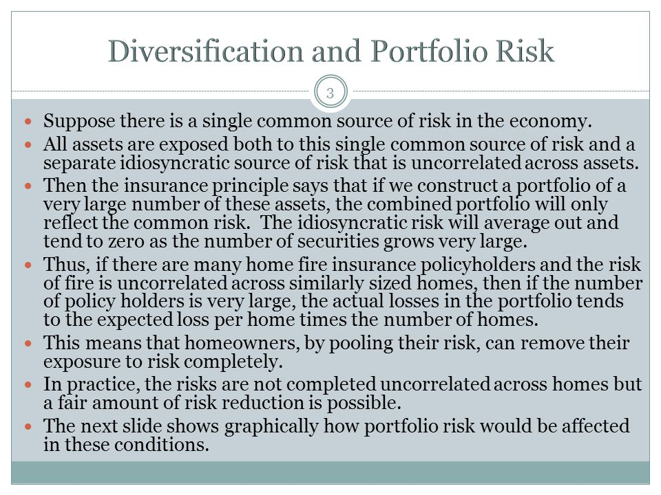 Diversification and Portfolio Risk