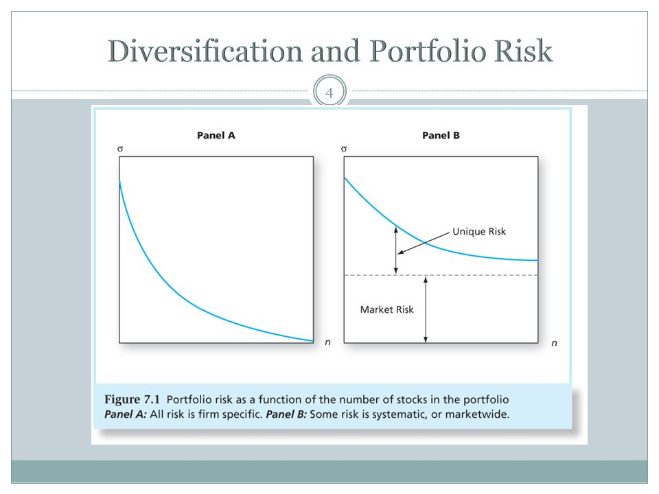 Diversification and Portfolio Risk