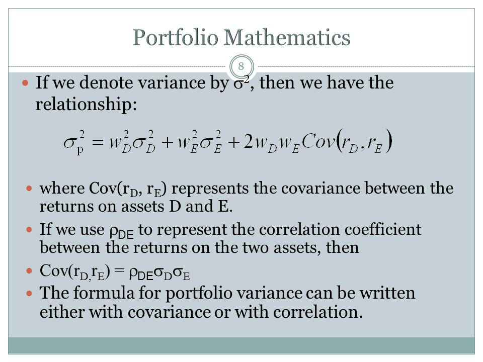 Portfolio Mathematics