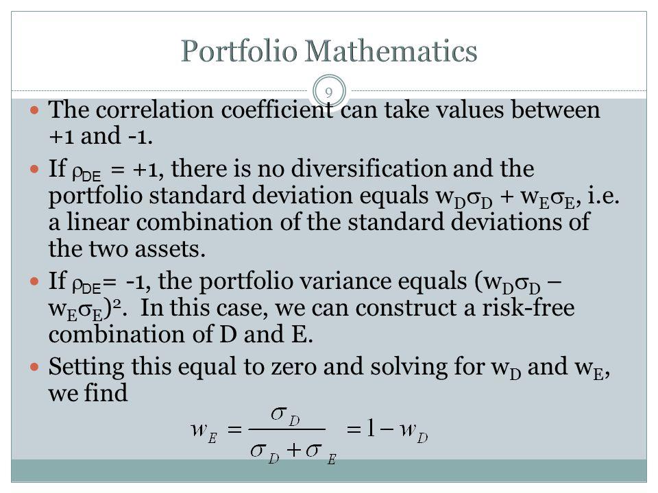 Portfolio Mathematics