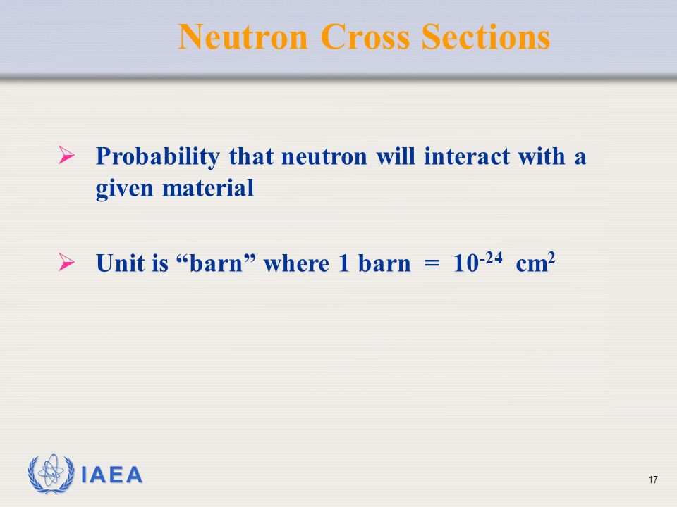 Neutron Cross Sections