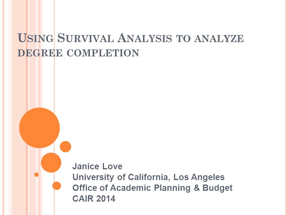 Using Survival Analysis to analyze degree completion