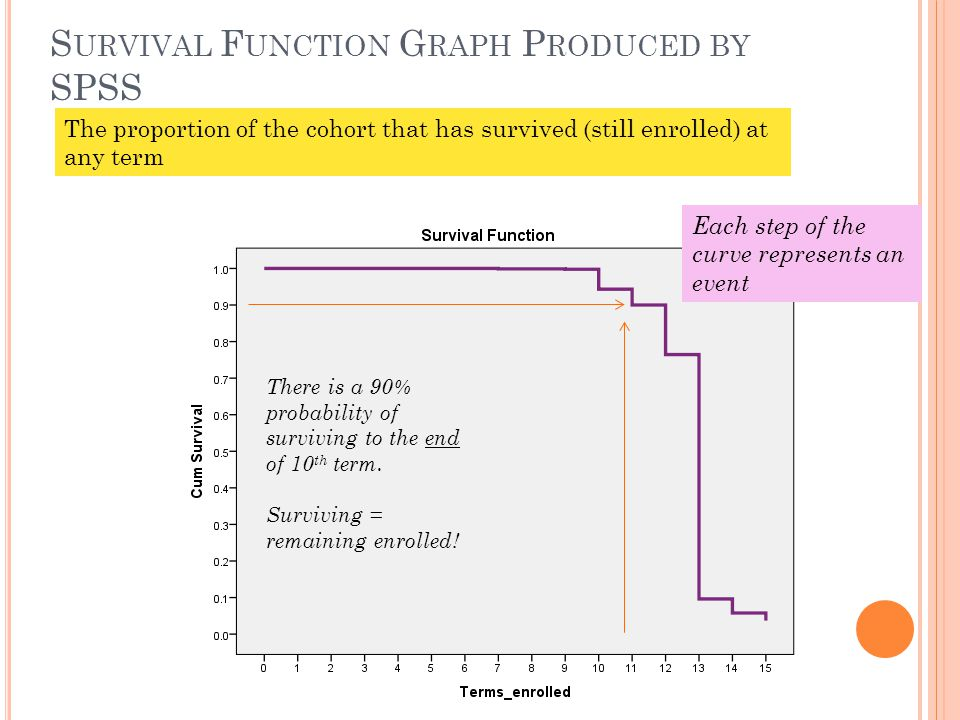 Survival Function Graph Produced by SPSS