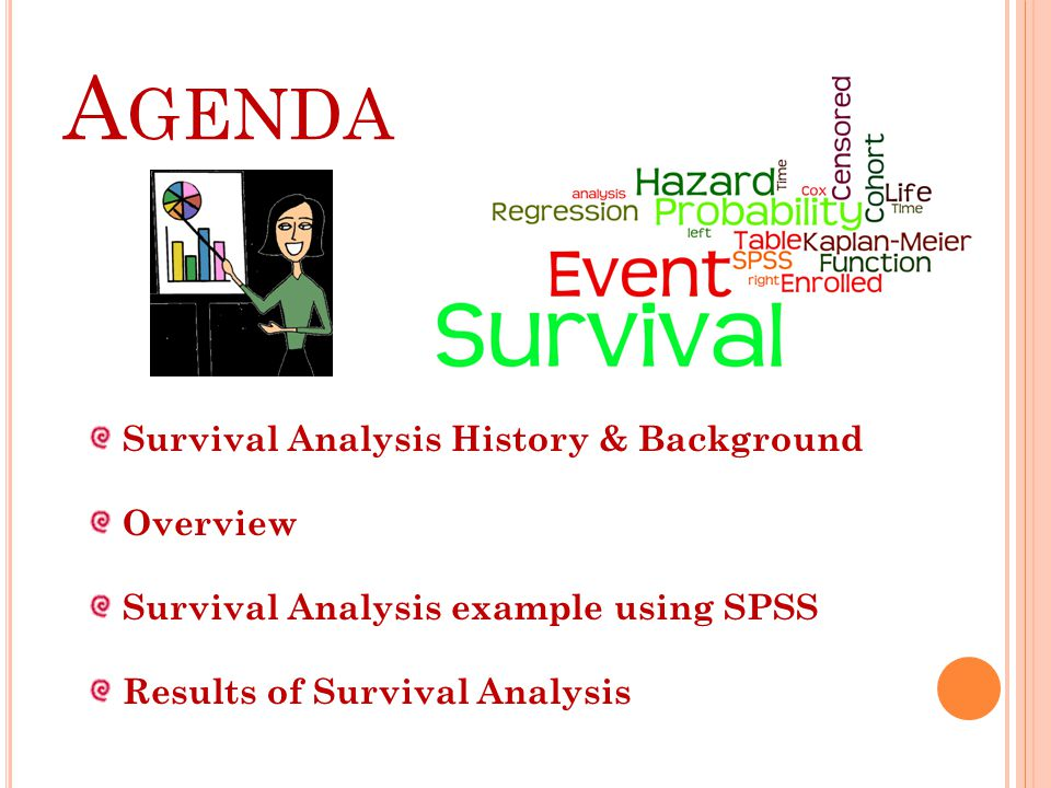 Agenda Survival Analysis History & Background Overview