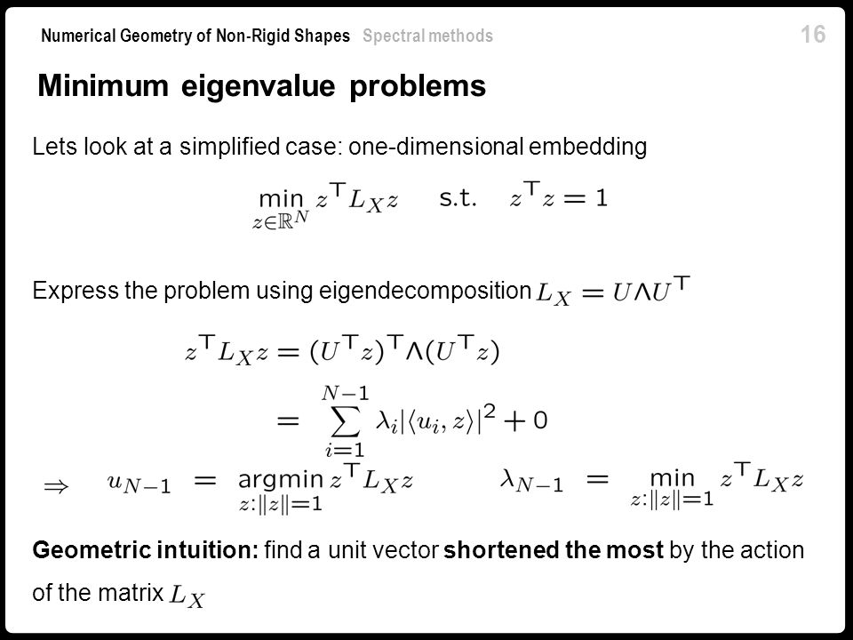 Minimum eigenvalue problems