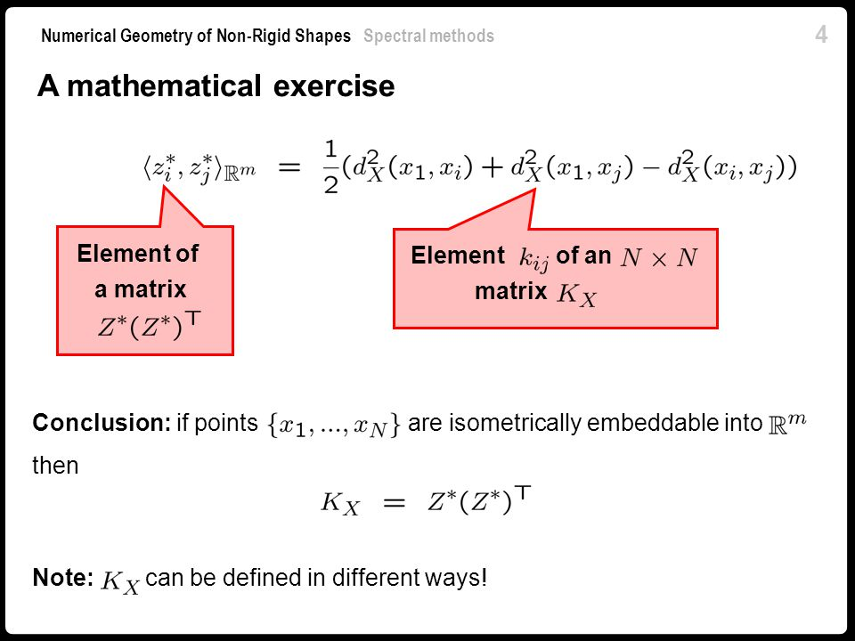 A mathematical exercise