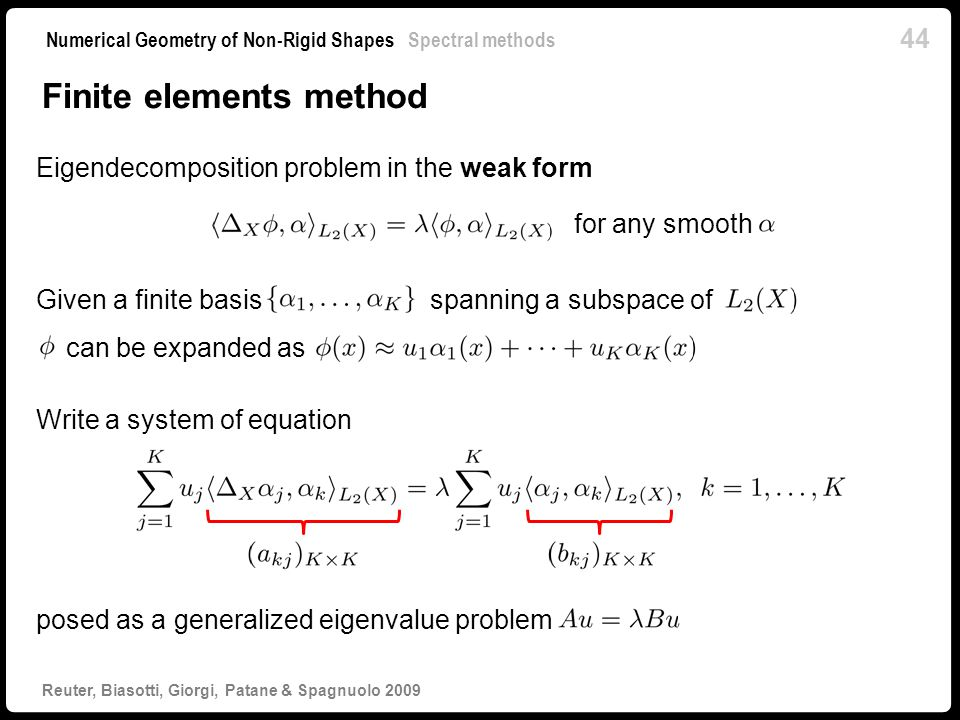 Finite elements method