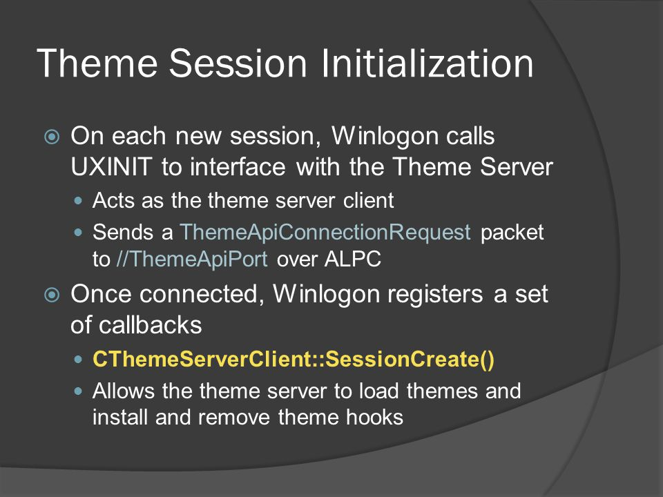 Theme Session Initialization