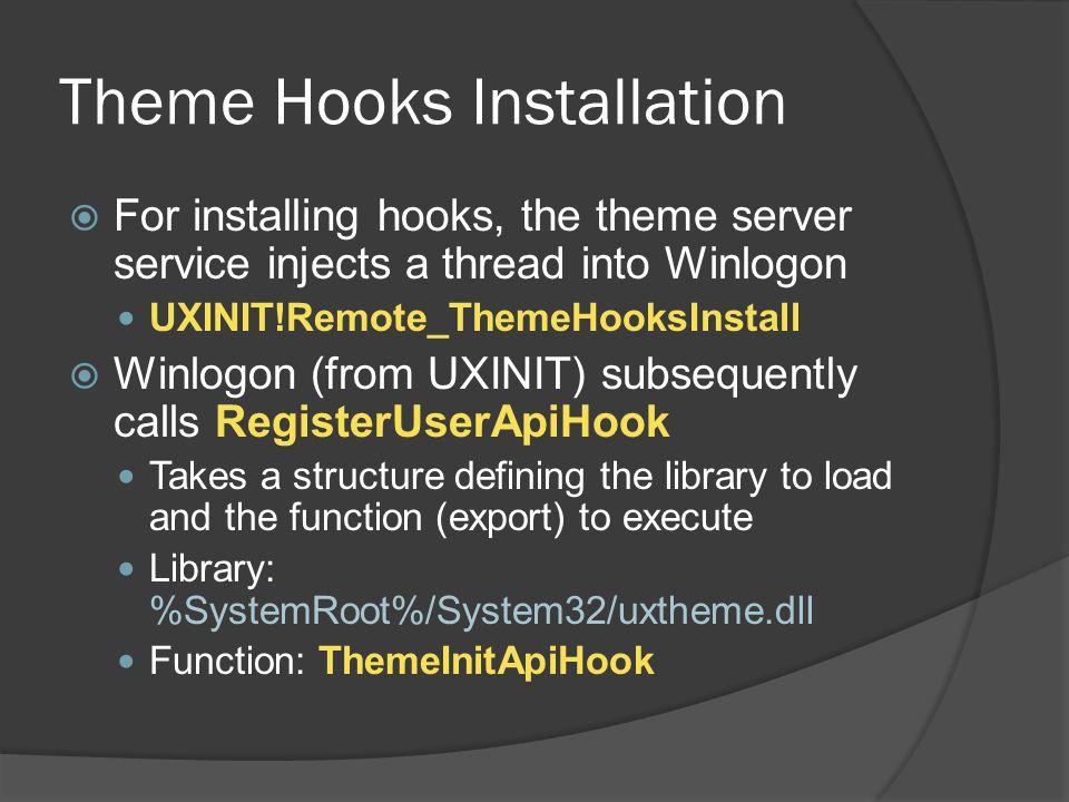 Theme Hooks Installation