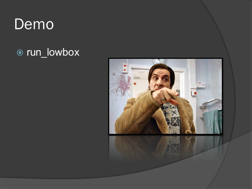 Demo run_lowbox Photo credit: Lilyhammer