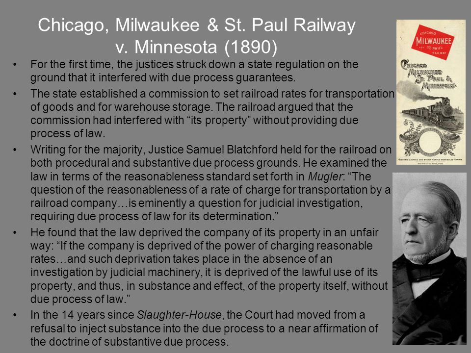Chicago, Milwaukee & St. Paul Railway v. Minnesota (1890)