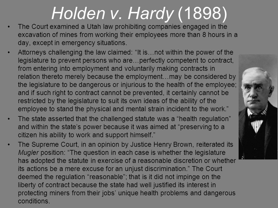 Holden v. Hardy (1898)